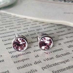 Lia Sophia Vintage Purple Stud Earrings